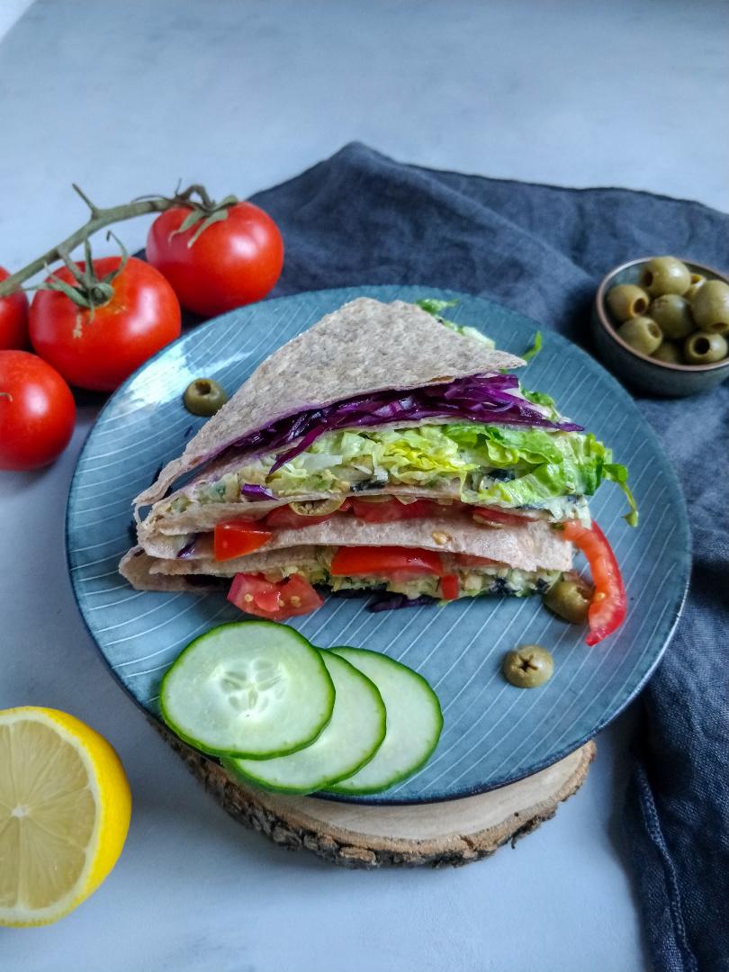 Snack für Wanderungen 2: Vegane Wrap-Ecken